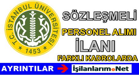 İstanbul Üniversitesi Sözleşmeli Hemşire Personel Alımı