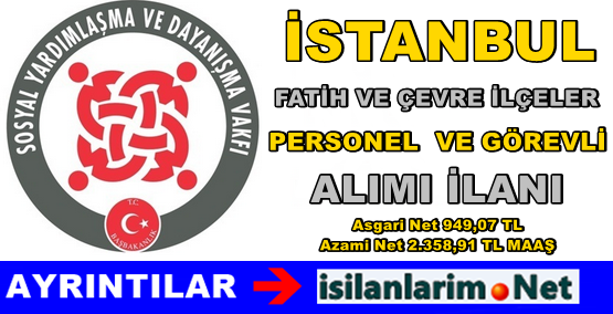 İstanbul Fatih SYDV Görevli Personel Alımı 2015