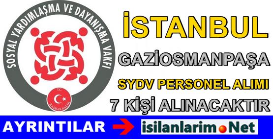 SYDV İstanbul Gaziosmanpaşa Personel Alımı 2015