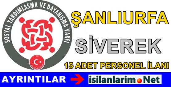 Şanlıurfa Siverek SYDV Personel Alımı Başvurusu 2015