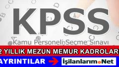 KPSS 2015/1 Önlisans 2 Yıllık Mezun Atama Kadroları