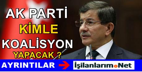 Başbakan Davutoğlu Hangi Partiyle Koalisyon Yapacak
