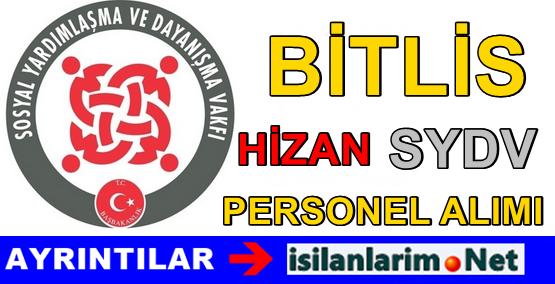 Bitlis Hizan SYDV Personel Görevli Alımı 2015