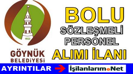 Göynük Belediyesi Sözleşmeli Personel Alımı İlanı 2015