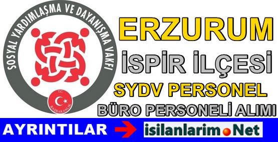 Erzurum İspir SYDV Büro Görevlisi Personel Alımı İlanı