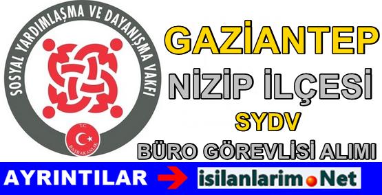 SYDV Gaziantep Nizip Personel Alımı Başvurusu 2015