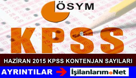 2015 Haziran KPSS Atama Kontenjanları Ne Kadar