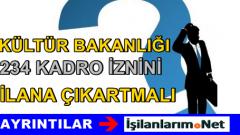 Kültür Bakanlığı 2015-1 KPSS Memur Alımı Kadroları