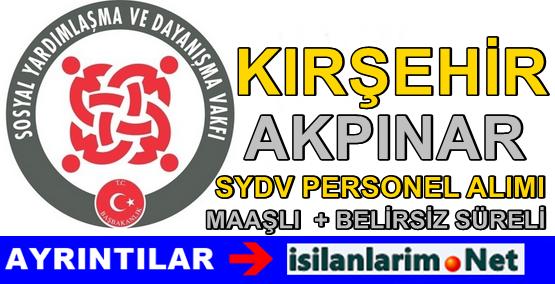 Kırşehir Akpınar SYDV Personel Alımı Başvurusu 2015