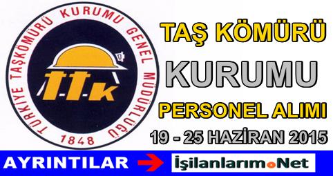 Türkiye Taşkömürü Kurumu Personel Alımı İlanı 2015