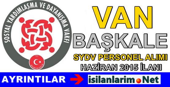 Van Başkale SYDV Personel Alımı İlanı 2015