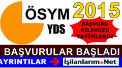 YDS 2015 Sonbahar Dönemi Başvuru Kılavuzu Yayımlandı