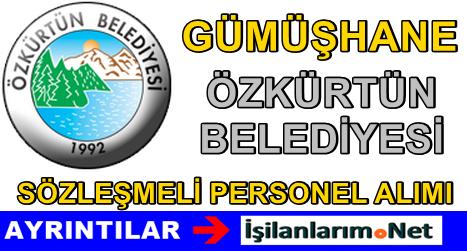Özkürtün Belediyesi Sözleşmeli Personel Alımı 2015