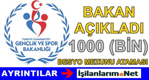 Spor Bakanı Açıkladı 1000 Tane BESYO Mezunu Alınacak