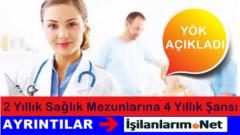 Önlisans Sağlık Mezunlarına Lisans Tamamlama Duyurusu 2015