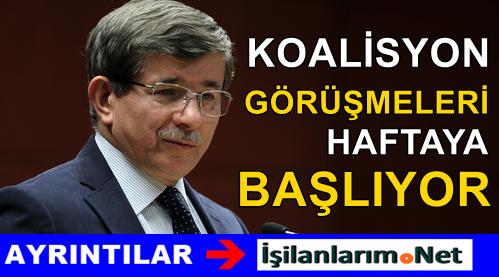 Ahmet Davutoğlu Koalisyon Süreci Hakkında Detay Verdi