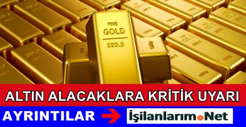 Altın Alacaklar İçin Uyarı: Çeyrek Altın Düşüşe Geçti