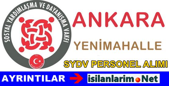 SYDV Ankara Yenimahalle Personel Alımı İş İlanı 2015