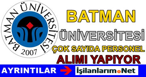Batman Üniversitesi 4/B Sözleşmeli Personel Alımı  2015