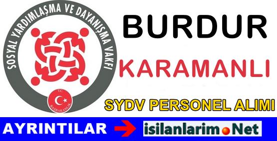 Burdur Karamanlı SYDV Personel Görevli Alımı İlanı 2015