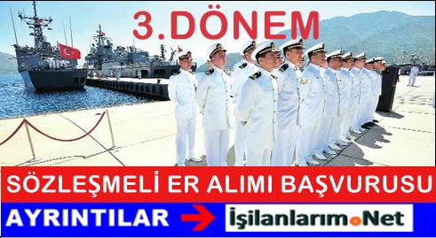 Deniz Kuvvetleri 2015 Yılı 3. Dönem Sözleşmeli Er Alımı İlanı
