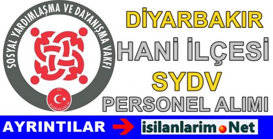 SYDV Diyarbakır Hani İlçe Personel Alımı İlanı 2015