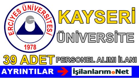 Erciyes Üniversitesi Sözleşmeli Hemşire Alımı İlanı 2015