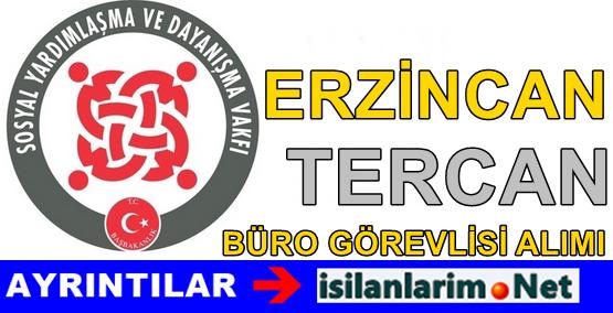 Erzincan Tercan SYDV 2015 Büro Görevlisi Alımı Başvurusu