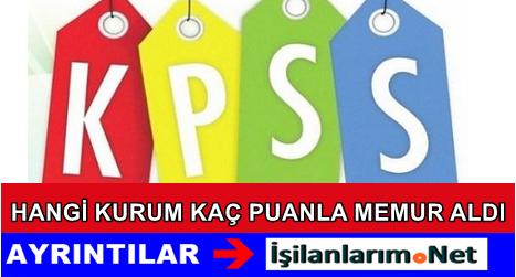 KPSS 2015/1 Yerleştirmesinde En Düşük Atama Puanı Kaç