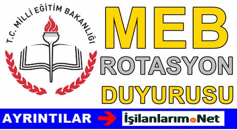 MEB 2015 Yılı Öğretmenler İçin Rotasyon Duyurusu Yapıldı