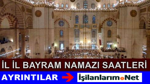 2015 Yılı Ramazan Bayramı Namazı Saatleri Açıklandı