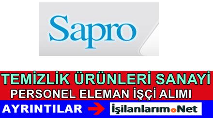 Sapro Temizlik Sanayi Personel Eleman Alımı İş İlanları 2015