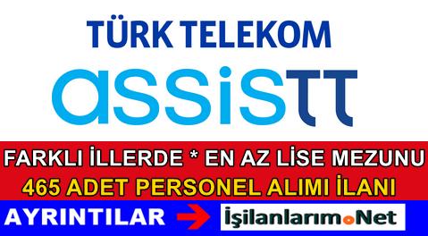 Türk Telekom AssisTT 465 Adet Personel Alımı İlanı 2015