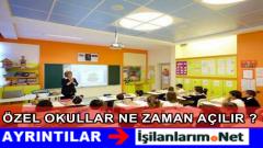2015-2016 Yılı Özel Okulların Açılış Tarihi Ne Zaman