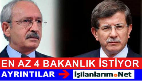 Kemal Kılıçdaroğlu Koalisyon İçin 4 Önemli Bakanlığı İstiyor