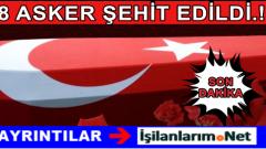 Siirt Şirvan'dan Acı Haber Geldi: Mayınlı Tuzak 8 Şehit