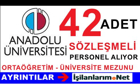 2015 Anadolu Üniversitesi Sözleşmeli Personel Alımı İlanı