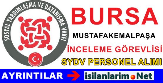 SYDV Bursa Mustafakemalpaşa Personel Görevli Alımı İlanı