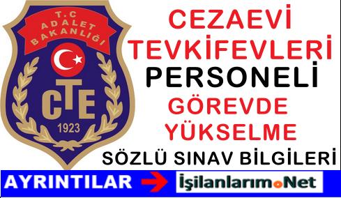 2015 CTE Personeli Görevde Yükselme Sözlü Sınav Duyurusu