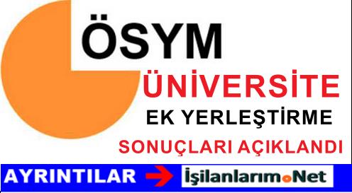 28 Ağustos 2015 ÖSYS Ek Yerleştirme Sonuçları Açıklandı