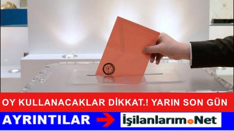 Erken Seçimde Oy Kullanmak İçin Adres Değişikliği Son Gün