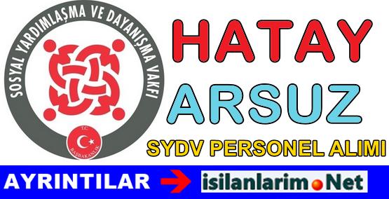 SYDV Hatay Arsuz Personel Görevli Alımı İlanı 2015