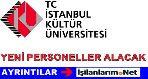 T.C. İstanbul Kültür Üniversitesi Personel Alımı İş İlanları