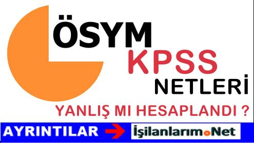 ÖSYM'den KPSS'de 7 BİN Adayın Net Sayısına İlişkin Açıklama