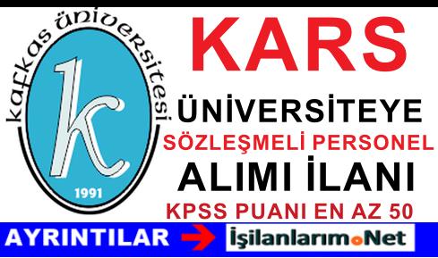 Kafkas Üniversitesi 4/B Sözleşmeli Personel Alımı Yapıyor