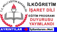 MEB İlköğretim Türk İşaret Dili Dersi Öğretim Programı