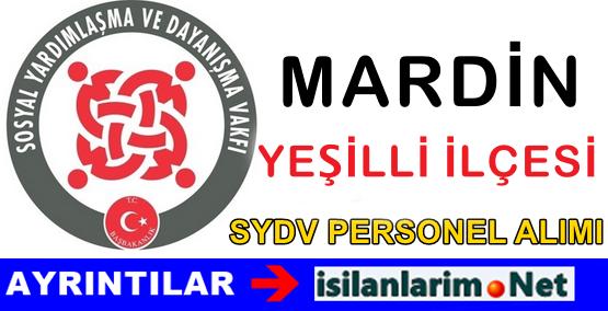 SYDV Mardin Yeşilli Personel Alımı İş Başvurusu 2015