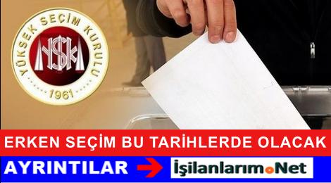 Erken Seçim En Geç 22 Kasım 2015 Tarihinde Yapılacak