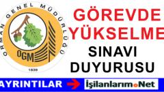 Orman Genel Müd. Fidanlık Müdürü Görevde Yükselme Sınavı