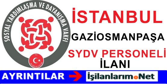 İstanbul Gaziosmanpaşa SYDV Personel Alımı İlanı 2015